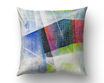 Abstract Art Pillow, Abstract Decoration, Living Room Decor, 26x26 Pillow Cover, 20x20 Pillow Case, Abstract Painting, Sofa Pillows