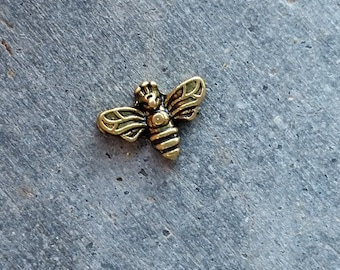 Floating Charm For Glass Memory Lockets- Gold Bee