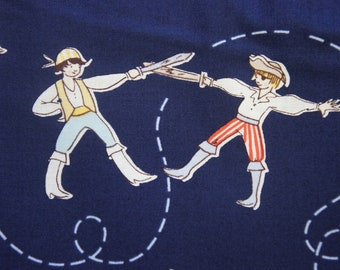 """REMNANT A Pirates Life in Navy Sarah Jane's """"Out to Sea"""" - for Michael Miller - by the piece 1 and 5/8 yards."""