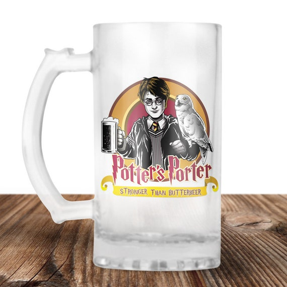 Harry Potter - Harry Potter Butter Beer - Harry Potter Lover Gift - Craft Beer Mug -Beer Mug -Beer Lover Gift -Perfect Beer Lover Gift
