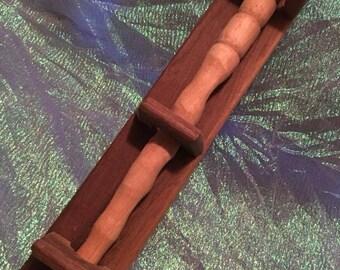 Poplar wand with Black Walnut Holder
