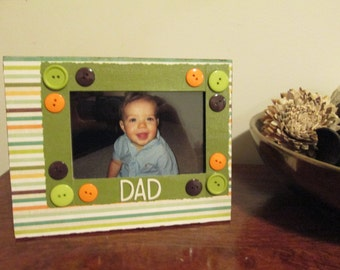 4x6 Dad Themed - Hand Decorated Picture Frame