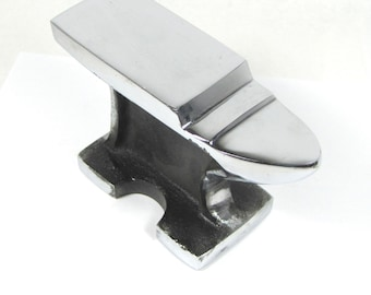 Jumbo Horn Anvil, Large stable anvil,  metal working tool, Face is 6.25 x 2 inches, 4 inches Tall, Stamping anvil, forging anvil