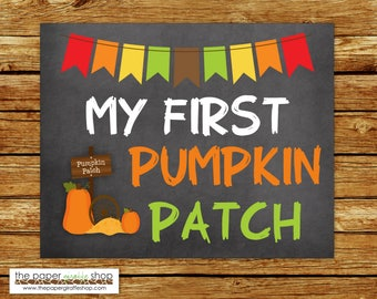 My First Pumpkin Patch Sign | Baby's First Pumpkin Patch Chalkboard Sign | My First Holiday Signs | Baby's 1st  Holiday | Pumpkin Patch