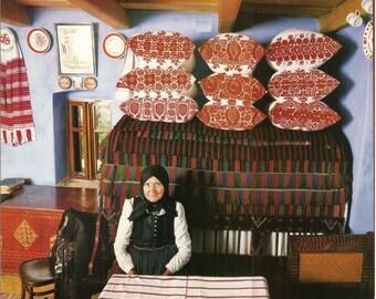 Set of 9 Vintage Hungarian Széki  (Transylvania) embroidery pillow patterns