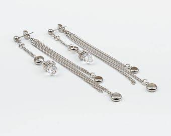 These versatile earrings, swarovski crystal, stainless steel