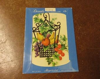 Vintage Meyercord Fruit Cage Basket Decal