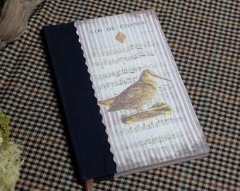 "Custom hunting notebook ""Woodcock"" Huntress Hunter hunting hunting hunting gift the bronze color wood"