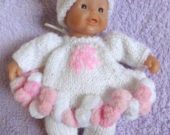 "Hand Knitted Dolls Clothes for 8""  OOAK  Doll (# 213)"