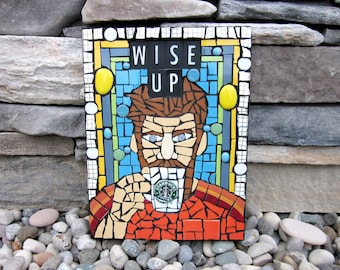 Wise Up. (Handmade Original Mosaic Wall Hanging by Artist Shawn DuBois)