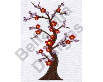 Blossom - Machine Embroidery Design, Asian Cherry Blossom