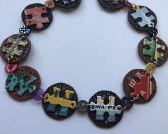 Filigree Puzzle Necklace