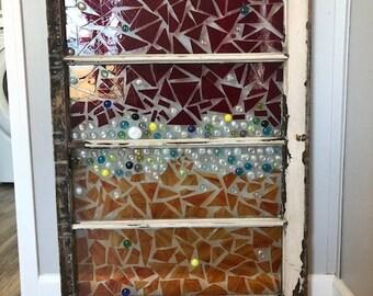 Custom Made Vintage Mosaic Window