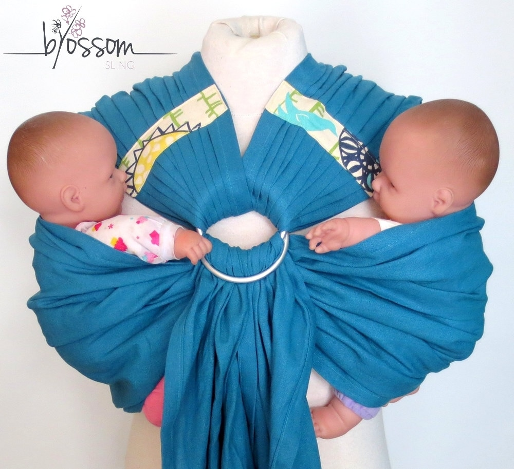 TwinSling© BlossomNEW PATTERN Double Ring sling Ring