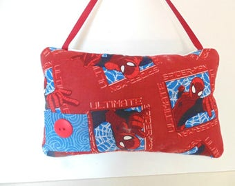Spiderman Tooth Fairy Pillow, Boys Hanging Tooth Fairy Pillow , Boys Red Pillow