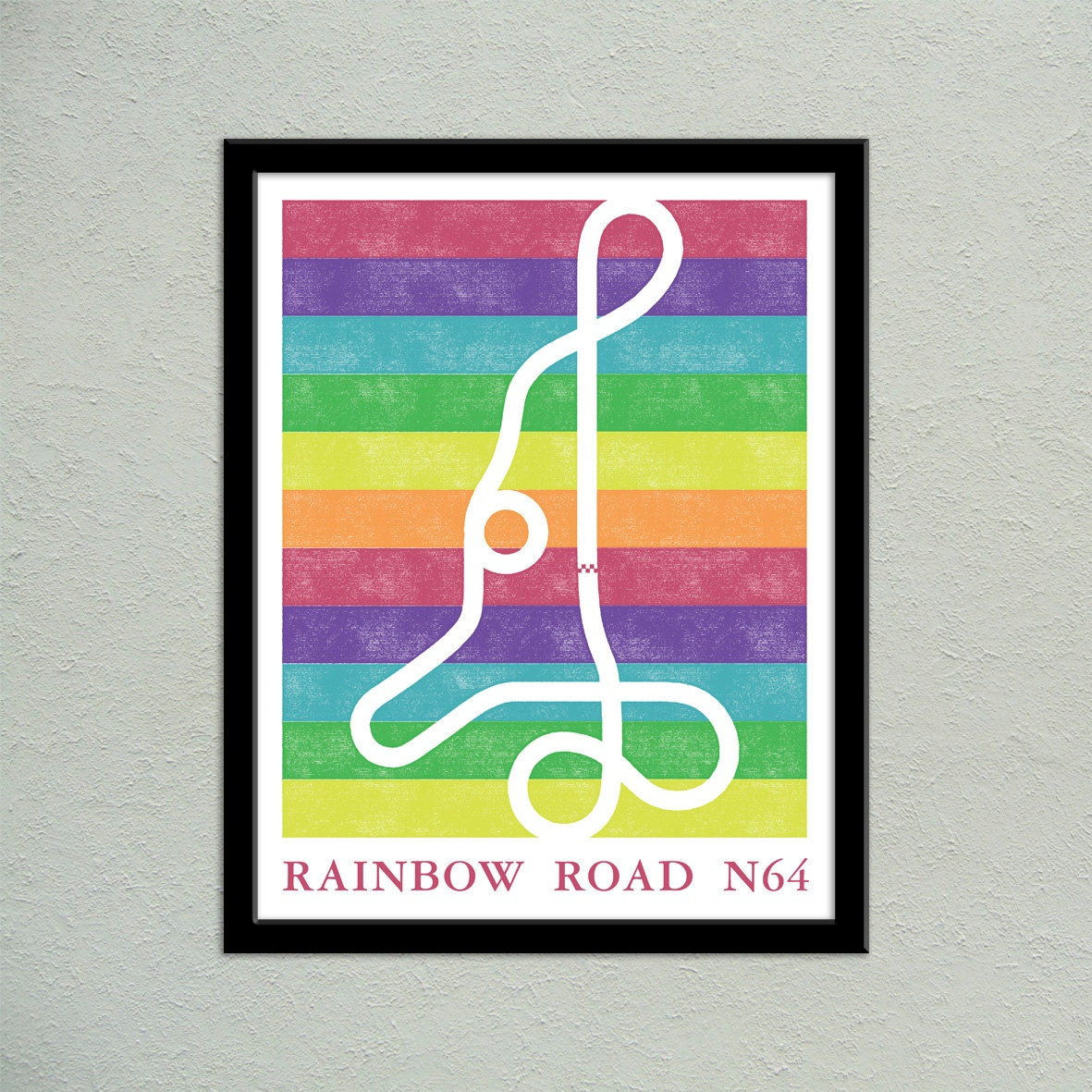 Mario kart 64 rainbow road track map poster super mario kart zoom gumiabroncs Choice Image