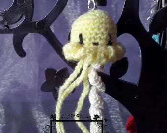 Portable Octopus jewelry soft yellow cotton