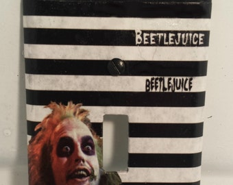 Beetlejuice Light Switch Cover