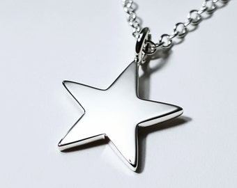 Sterling silver 9kt solid rose gold 2 stars necklace sterling sterling silver star necklace pendant sterling star pendant sterling star necklace star necklace mozeypictures Image collections