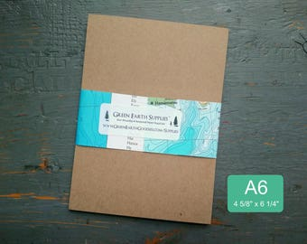 """100 A6 Kraft or Light Brown FLAT Cards, 100% Recycled, Blank Post/Photo Cards/Announcements/Invites, 4 5/8 x 6 1/4"""", 65-105lb (Cards Only)"""