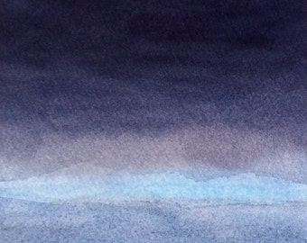 """Watercolour painting // Convergence // 7 x 5"""""""
