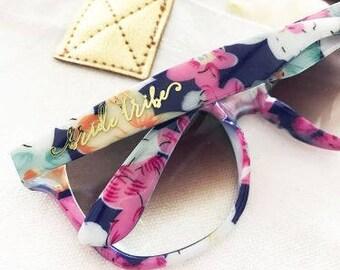 Bride/Bride Tribe Floral Sunglasses