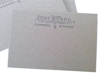 "Chipboard Postcards, Postcard blanks, set of 20, Chipboard, 4"" x 6"" inch, Postcard"