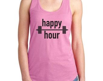Happy Hour Barbell Women's Tank Top / T-Shirt