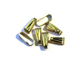 Simple 8mm - gold plated (25 pieces) bail
