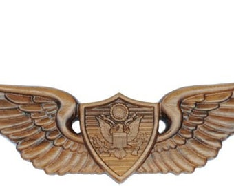 Army Aircrew Wooden Wings