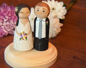 Custom wedding cake topper, Wedding Cake Topper, Wedding cake, Peg Doll cake topper , cake topper, Custom wedding, personalized wedding
