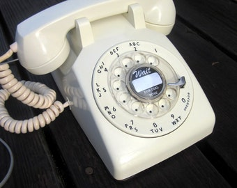 Restored Working 1959 Western Electric Cream Rotary Phone