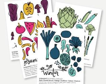 Printable Set of All 4 Seasons - What Produce Is In Season