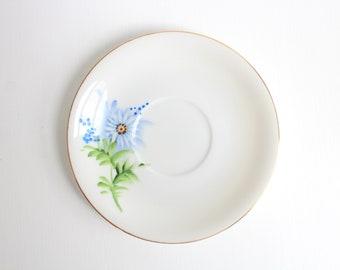Vintage Ring Dish, Floral Ring Dish, Flower Ring Dish, Blue Ring Dish, Trinket Dish, Ring Dish, Jewelry Dish, Blue & White, Cobalt, Lefton