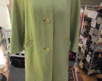 Vintage 1960s Ladies Celadon Green Spring Coat