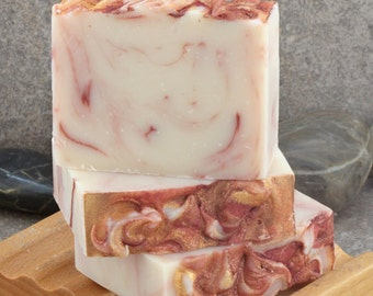 SALE - Unscented Pink Sparkling Wine Handcrafted Cold Process Soap Bar
