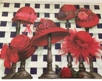 Red Hat Ladies Plastic Tray
