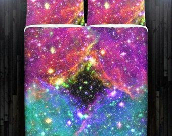 Black Hole Space Nebula Galaxy Bedding Duvet Cover Queen Comforter King Twin XL Size Blanket Sheet Set Baby Crib Toddler Daybed Kids Bed