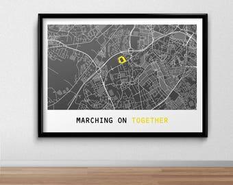 Leeds  Football Poster, Football Poster, Football Print, gift, Map Print,  Present