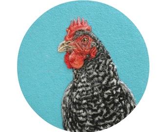 Speckled Hen Portrait - Giclee Print 8 x 10 - HAM Portrait Collection