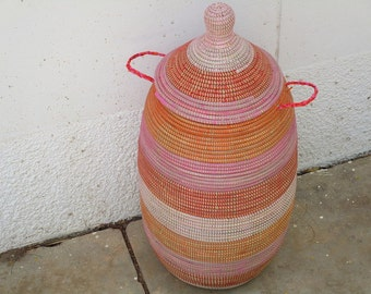Laundry room, Clothes Basket, Laundry Sorter, African Basket, Baby Shower Gift, Made to Order