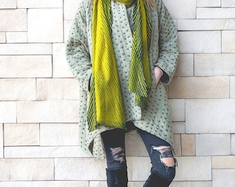 Hand Dyed Wool Stole - PavoSF