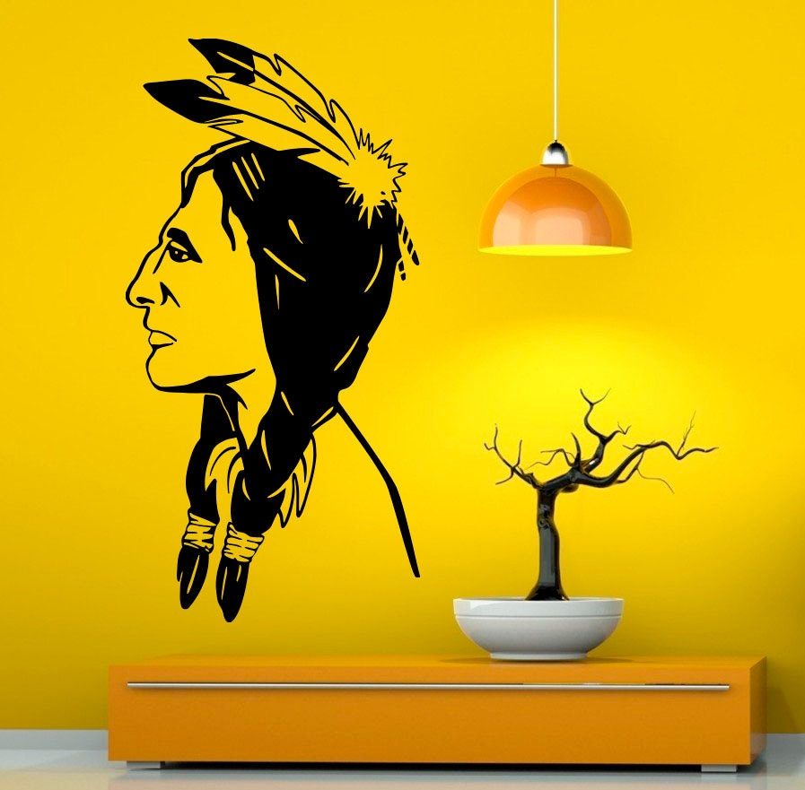 Native American Wall Decal Vinyl Stickers American Indian
