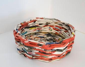 Basket of paper straws