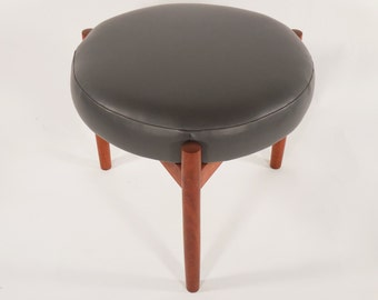 Danish Modern Teak Stool by Spottrup