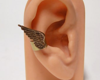 tiny Angel Feather Wings Ear Cuff (right ear)