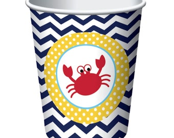 Ahoy Matey  Party Paper Cups-8 Count (9oz.)