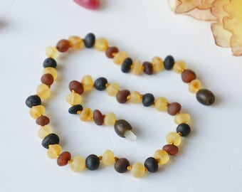 Baby Amber Necklace, Baltic Amber Baby, Amber Necklace, Baby Natural Amber, Baby Teething Amber, Child Amber Necklace, Children Necklace