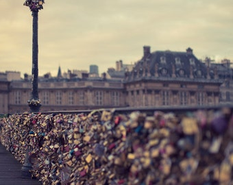 Pont Des Arts, Paris Photography, Paris Print, French Wall Art Print, Architecture Art Print, Travel Photography, French Decor