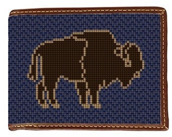 Buffalo Needlepoint Wallet
